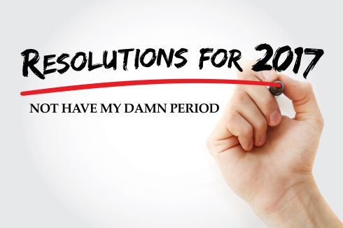 Hand writing Resolution for 2017 with marker, concept background